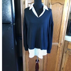 Lane Bryant Faux Layer Sweater Size 18/20